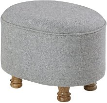 Oval Footstool ClassicLiving Upholstery: Grey