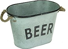 Oval Galvanised Metal BBQ Barbecue Party Cool Beer