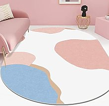 Oval Rug,Minimalist Abstract Cloud Pattern Oval