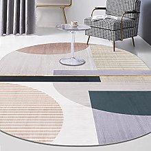 Oval Rug,Nordic Minimalism Geometry Pattern Oval