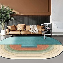 Oval Rug,Soft Non-Slip Oval Bath Mat Minimalist