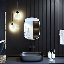 Oval Shape Single Door Mirror Cabinet 600 x 450 mm