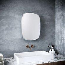 Oval Shape Single Door Stainless Steel Mirror