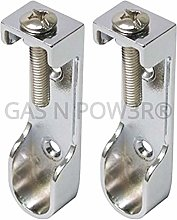 Oval Wardrobe Rail Hanging END Supports Rail