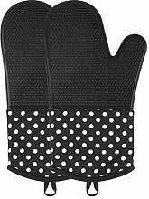 OVAWA Silicone Oven Mitts, Extra Long Kitchen Oven