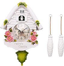 OVBBESS Cute Bird Wall Clock Cuckoo Alarm Clock