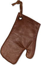 Oven glove - / Leather by Dutchdeluxes Brown