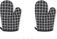 Oven glove 2 pieces heat resistant cooking gloves