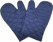 Oven Glove - Cotton Non Slip Kitchen Gloves Heat