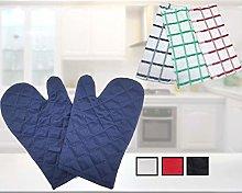 Oven Glove Cotton Non Slip Kitchen Gloves Heat