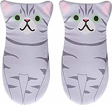 Oven gloves 2Pcs Cute Cat Shaped Oven Mitts