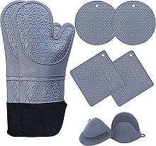Oven Gloves 8PCS Oven Gloves and Pot Holder Set