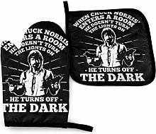 Oven Gloves and Pot Holders,Chuck Norris Turns Off