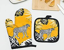 Oven Gloves and Pot Holders Extra Thicken Long
