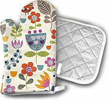Oven Gloves and Pot Holders,Funky Flowers Oven
