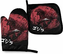 Oven Gloves and Pot Holders,Godzilla Zillageddon