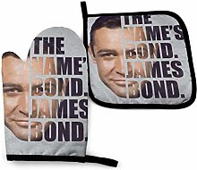 Oven Gloves and Pot Holders,James Bond Half Head