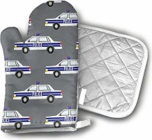 Oven Gloves and Pot Holders,Police Car Funny