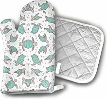 Oven Gloves and Pot Holders,Sea Turtles Nautical