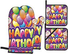 Oven Gloves And Pot Holders Set Birthday