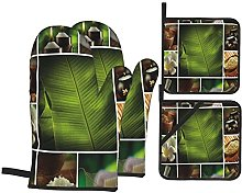 Oven Gloves And Pot Holders Set Spa Decor Collage