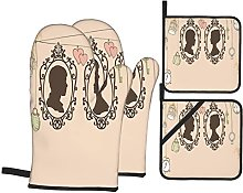 Oven Gloves And Pot Holders Set Wedding