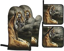 Oven Gloves And Pot Holders Set Wildlife Nature