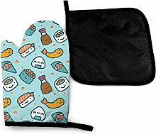 Oven Gloves and Pot Holders Sets,Anime Japanese
