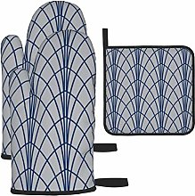 Oven Gloves and Pot Holders Sets,Arcada Geometric