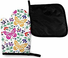 Oven Gloves and Pot Holders Sets,Color Art