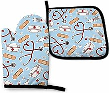 Oven Gloves and Pot Holders Sets Nurse Appliance