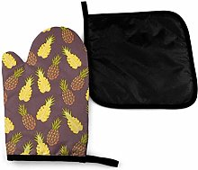 Oven Gloves and Pot Holders Sets,Pineapple Fruit