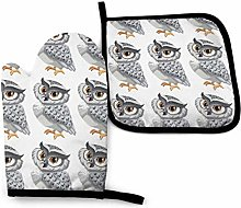 Oven Gloves and Pot Holders Sets,Silver Handsome