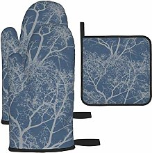 Oven Gloves and Pot Holders Sets,Whispering Trees