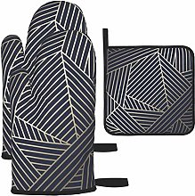 Oven Gloves and Pot Holders Sets,Wingate Geometric