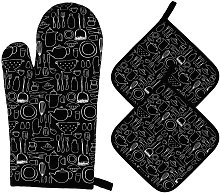 Oven Gloves and Potholders Heat Resistant Kitchen