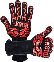 Oven gloves, anti-heat kitchen glove resistant,