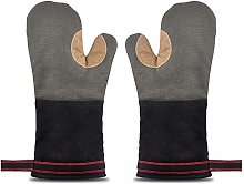 Oven Gloves Heat Resistant 500℉Leather Gauntlet