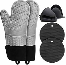 Oven Gloves Heat Resistant, Silicone Oven