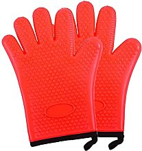 Oven Gloves, Kitchen Silicone Gloves with Internal