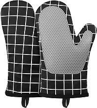 Oven gloves, silicone and cotton heat-resistant