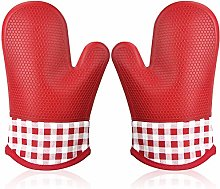 Oven Gloves Silicone for Kitchen, Non-slip Oven