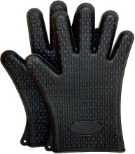 Oven Gloves with Fingers - Pair - Black
