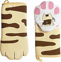 Oven Heat Resistant Gloves, Double Oven Mitts