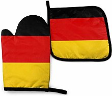 Oven Mitt and Pot Holder Set,National Flag of