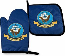 Oven Mitt and Pot Holders, 2 Piece Set, United