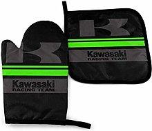 Oven Mitt and Potholder, Kawasaki Dark Oven Glove