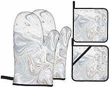 Oven Mitts and Pot holders 4pcs Set,Abstract