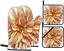 Oven Mitts and Pot holders 4pcs Set,Autumn Big