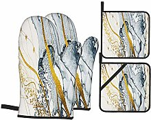 Oven Mitts and Pot Holders 4pcs Set,Masterpiece